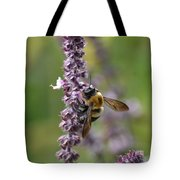 Bumble On Sage Tote Bag