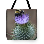 Bumble Thistle Tote Bag
