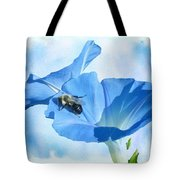 Bumblebee And Blue Morning Glory Tote Bag