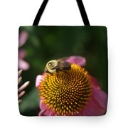 bumblebee and Echinacea Tote Bag