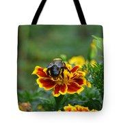 Bumblebee On Marigold Tote Bag