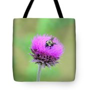 Bumblebee On Thistle 2013 Tote Bag
