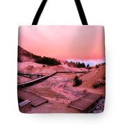 Bumpass Hell Sunset Tote Bag