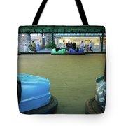 Bumper Cars At Monte Igueldo Amusement Tote Bag
