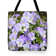 Bunch Of Pansy Flowers Tote Bag
