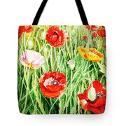 Bunch Of Poppies II Tote Bag