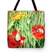 Bunch Of Poppies IIi Tote Bag