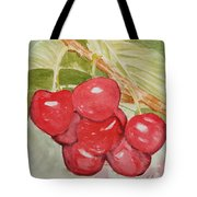 Bunch Of Red Cherries Tote Bag