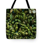 Bunches Of Asparagus On Display At The Farmers Market Tote Bag