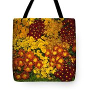 Bunches Of Yellow Copper Orange Red Maroon - Hot Autumn Abundance Tote Bag