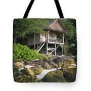 Bungalow In Koh Rong Island Beach In Cambodia Tote Bag