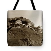 Bunker Above The Dak Poko River Near Dak To Kontum Province Vietnam 1968 Tote Bag