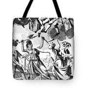 Bunker Hill: Cartoon, 1775 Tote Bag