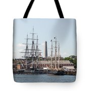 Bunker Hill With Ships Tote Bag