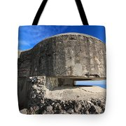 Bunker Over The Sea Tote Bag