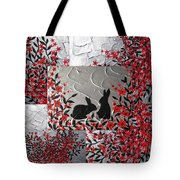 Bunnies In Blossom Tote Bag