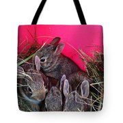 Bunnies In Pink Tote Bag