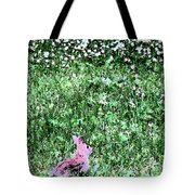Bunny Rabbit Digital Paint Tote Bag