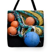 Buoys And Nets Tote Bag by Carol Leigh