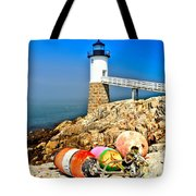 Buoys At The Headlight Tote Bag