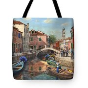 Burano Canal Venice Tote Bag