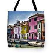 Burano Italy - Colorful Homes Tote Bag