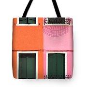 Burano Pink And Orange Tote Bag