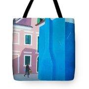 Burano Venice Street Scene Tote Bag