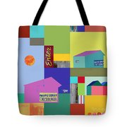 Burger Joint #3 Tote Bag by Elena Nosyreva