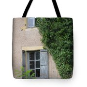 Wood Shutters With Vine Tote Bag