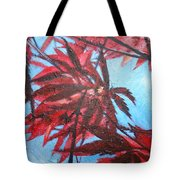 Burgundy Beauty Tote Bag