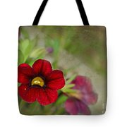 Burgundy Calibrochoa Blank Greeting Card Tote Bag