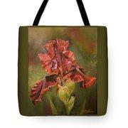 Burgundy Iris  Tote Bag