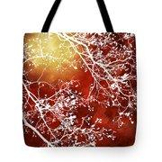 Burgundy Tree Abstract Tote Bag