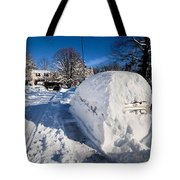 Buried In Snow Tote Bag