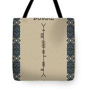 Burke Written In Ogham Tote Bag