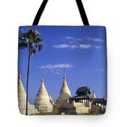 Burma Myanmar, White Minochanthar Tote Bag