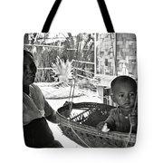 Burmese Grandmother And Grandchild Tote Bag