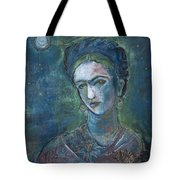 Burn It Blue Frida Tote Bag