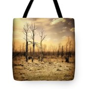 Burned Out Forest Tote Bag