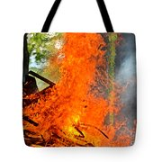 Burning Brush Tote Bag