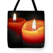 Burning Candles Tote Bag by Elena Elisseeva
