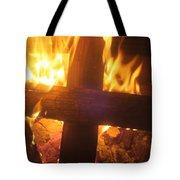 Burning Cross Tote Bag