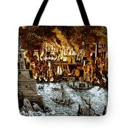 Burning Of The Royal Library Tote Bag