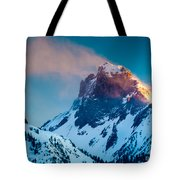 Burning Peak Tote Bag