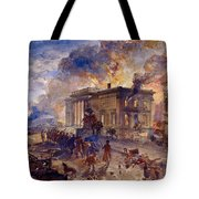 Burning Temple Of The Winds, 1856 Tote Bag