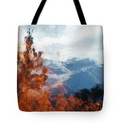 Burning The Winter Blues Away Tote Bag
