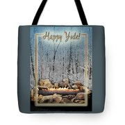 Burning Yule Log Tote Bag