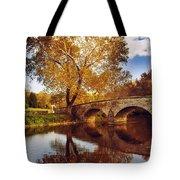 Burnside Bridge At Autumn Sunset Tote Bag