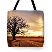 Burr Oak Silhouette Tote Bag